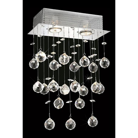 "Galaxy Collection 2-Light 12"" Chrome Wall Sconce with Clear Royal Cut Crystal 2021W12C/RC(LED)"
