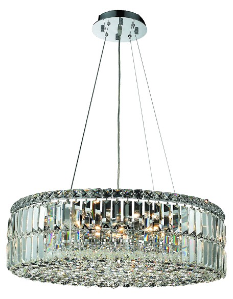 "Maxim Collection 12-Light 24"" Chrome Pendant with Clear  Swarovski Strass Crystal 2030D24C/SS"