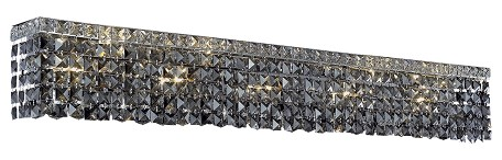 "Maxim Collection 10-Light 44"" Chrome Bathroom Vanity with Clear Swarovski Strass Crystal 2033W44C/SS"