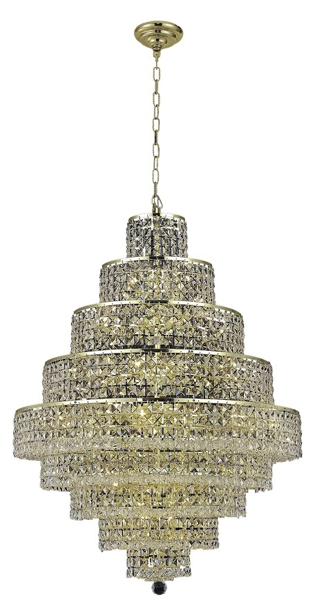 "Maxim Collection 20-Light 30"" Gold Chandelier with Clear  Swarovski Strass Crystal 2039D30G/SS"