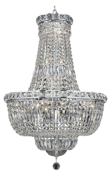 "Tranquil Collection 22-Light 22"" Chrome Chandelier with Clear Swarovski Spectra Crystal 2528D22C/SA"