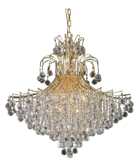 "Toureg Collection 15-Light 31"" Gold Chandelier with Clear Swarovski Spectra Crystal 8005G31G/SA"