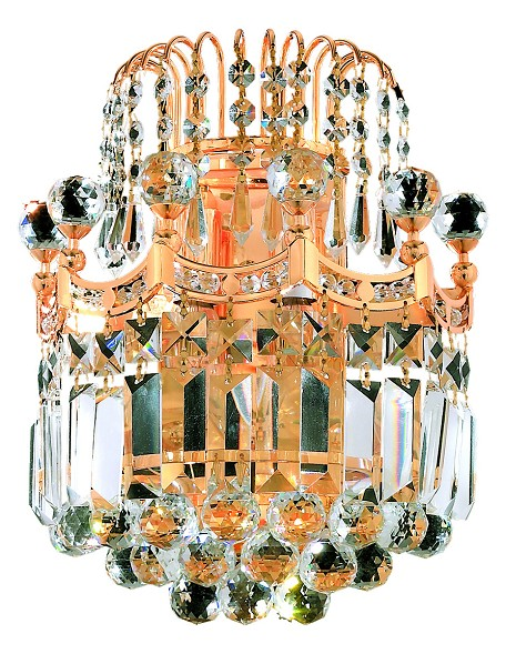 "Corona Collection 2-Light 12"" Gold Wall Sconce with Clear  Swarovski Strass Crystal 8949W12G/SS"
