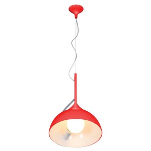 Access One Light Red  Drum Shade Pendant - 23770-RED