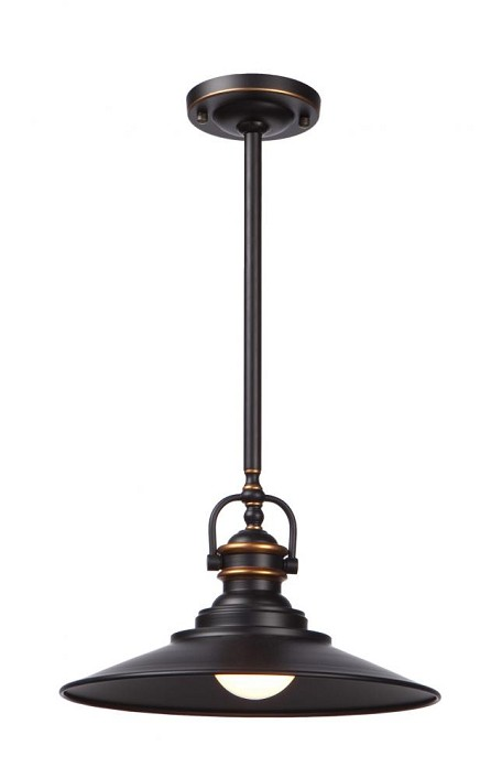 Artcraft One Light Bronze Down Pendant - AC1471BZ