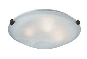 Artcraft Two Light Antique Brass Semi-clear White Glass Bowl Flush Mount - AC2351SPAB
