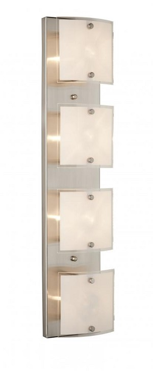 Artcraft Four Light Brushed Nickel Frosted Glass Vanity - AC3334