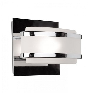 Artcraft One Light Chrome Frosted Glass Vanity - AC531CH