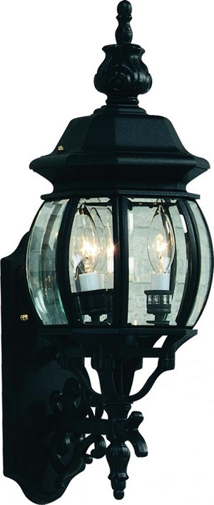 Artcraft One Light Rust Clear Glass Wall Lantern - AC8090RU