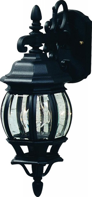Artcraft One Light Rust Clear Glass Wall Lantern - AC8091RU