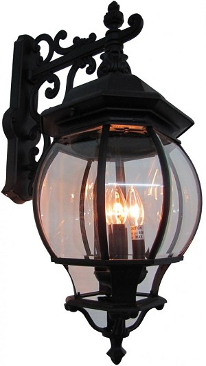 Artcraft Four Light Rust Clear Glass Wall Lantern - AC8491RU
