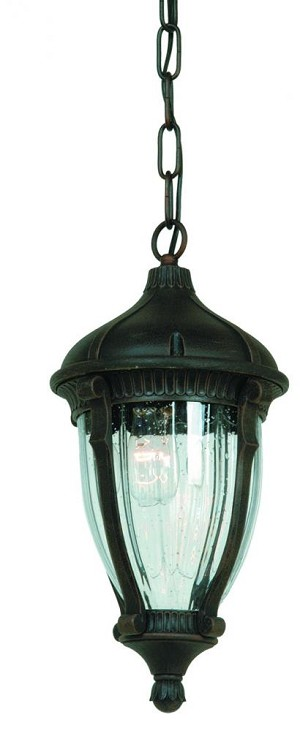 Artcraft One Light Optic Clear Glass Oil Bronze Hanging Lantern - AC8575OB