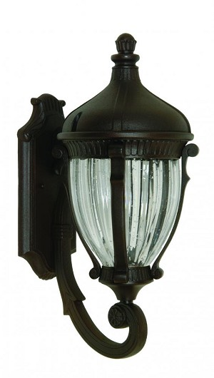 Artcraft Four Light Optic Clear Glass Oil Bronze Wall Lantern - AC8591OB
