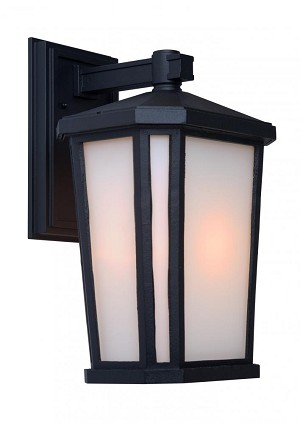Artcraft One Light Black Interior-white, Outer-etched Glass Wall Lantern - AC8781BK