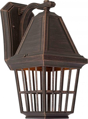 Artcraft One Light Rust Wall Lantern - AC8962RU