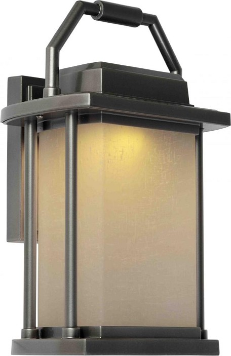 Artcraft One Light Slate White Linen Glass Wall Lantern - AC9022SL