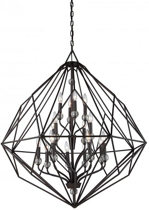Artcraft Sixteen Light Oil Rubbed Bronze Up Chandelier - CD2016OB