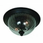 Artcraft Two Light Optic Clear Glass Oil Bronze Outdoor Flush Mount - AC8566OB