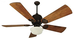 Craftmade One Light Ob - Oiled Bronze Alabaster Swirl Glass Ceiling Fan - K10516