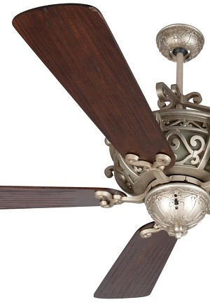 Craftmade Three Light Amber Frost Glass Ao - Athenian Obol Ceiling Fan - K11013