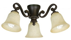 Craftmade Three Light Ag - Aged Bronze Fan Light Kit - LK35CFL-AG