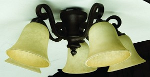 Craftmade Five Light Ag - Aged Bronze Fan Light Kit - LK37CFL-AG