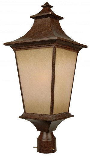 Craftmade One Light Bronze Post Light - Z1325-98