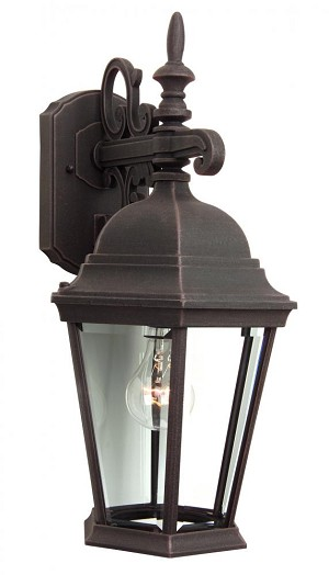 Craftmade One Light Black Wall Lantern - Z254-07