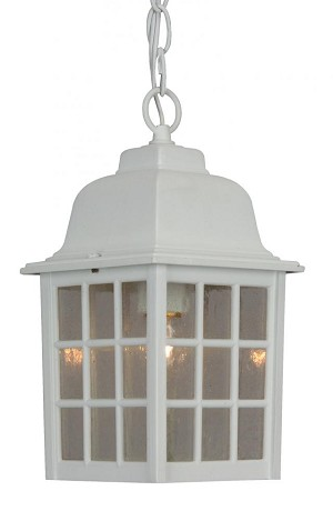 Craftmade One Light Matte White Hanging Lantern - Z271-04