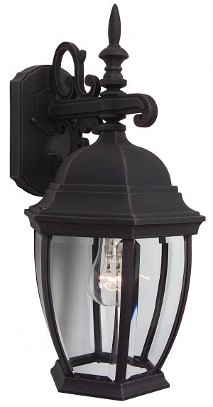 Craftmade One Light Black Wall Lantern - Z284-07