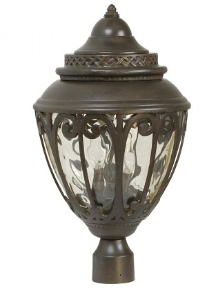 Craftmade Three Light Bronze Post Light - Z3825-98