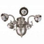 Craftmade Five Light Ag - Aged Bronze Fan Light Kit - F545CFL-AG