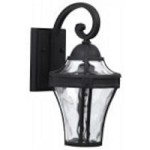 Craftmade One Light Black Wall Lantern - Z4204-05