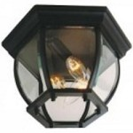 Craftmade Three Light Black Outdoor Flush Mount - Z433-05