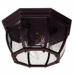 Craftmade Four Light Black Outdoor Flush Mount - Z434-07