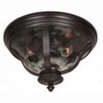 Craftmade Two Light Bronze Outdoor Flush Mount - Z6017-92