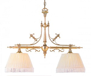 Crystorama Two Light Polished Brass Island Light - 1382-PB