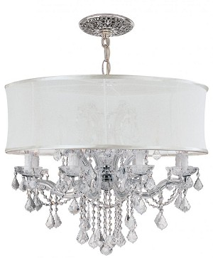 Crystorama Twelve Light Polished Chrome Hand Polished Glass Up Chandelier - 4489-CH-SMW-CLM