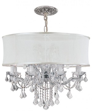Crystorama Twelve Light Polished Chrome Swarovski Elements Glass Up Chandelier - 4489-CH-SMW-CLS