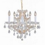 Crystorama Six Light Gold Hand Polished Glass Up Chandelier - 4405-GD-CL-MWP
