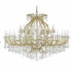 Crystorama Fifty Eight Light Gold Swarovski Elements Glass Up Chandelier - 4480-GD-CL-S