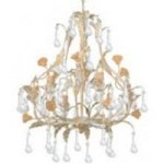 Crystorama Six Light Champagne Up Chandelier - 4936-CM