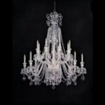 Crystorama Sixteen Light Polished Chrome Hand Polished Glass Up Chandelier - 5028-CH-CL-MWP