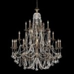 Crystorama Twenty Four Light English Bronze Hand Polished Glass Up Chandelier - 5120-EB-CL-MWP