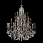 Crystorama Twenty Four Light English Bronze Swarovski Spectra Glass Up Chandelier - 5120-EB-CL-SAQ
