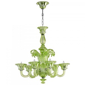 Cyan Designs Six Light Green Glass Up Chandelier - 05035