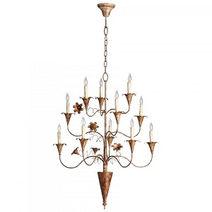 Cyan Designs Eleven Light Rubbed Bronze Up Chandelier - 05036