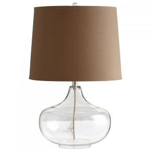 Cyan Designs One Light Clear Glass Charcoal And White Lining Shade Table Lamp - 05310
