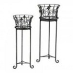 Cyan Designs Filigree Iron Planters - 02781