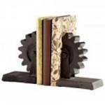 Cyan Designs Gear Bookends - 05347